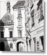 Old Viennese Courtyard Metal Print