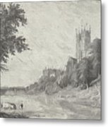 Old View Of Durham Cathedral Metal Print