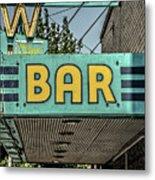 Old Vintage Bar Neon Sign Livingston Montana Metal Print