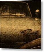 Old Vintage Plymouth Car Hood Metal Print