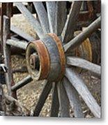 Old Waagon Wheel Metal Print
