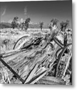 Old Wagon, Jackson Hole Metal Print