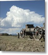 Old Wagon Out West Metal Print by Jerry McElroy
