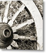 Old Wagon Wheel Metal Print