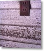 Old Wall Outlet Metal Print