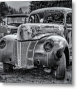 Old Warrior - 1940 Ford Race Car Metal Print