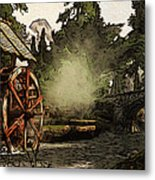 Old Watermill In The Forest Metal Print