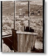 Old Well Bodie Ghost Twon California Metal Print