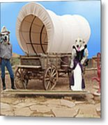 Old West Dogs Metal Print