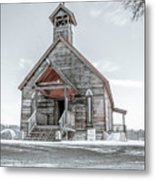 Old West Church Metal Print