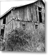 Old West Virginia Barn Black And White Metal Print