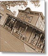 Old Western Town Metal Print