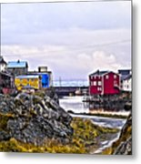 Old Whaling Village Nyksund Metal Print