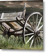 Old Wheels Metal Print