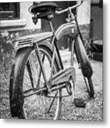 Old Wheels Metal Print