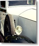 Old White Rolls Metal Print