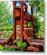 Old Wine Press Metal Print