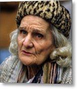Old Woman In Poland Metal Print