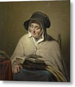 Old Woman Reading, Cornelis Kruseman, 1820 - 1833 Metal Print