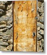 Old Wood Door And Stone - Vertical  Metal Print