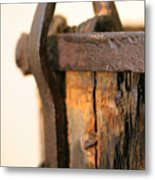 Old Wooden Barrel At The Ore Mine Sweden Metal Print by Dagmar Batyahav