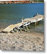 Old Wooden Dock Metal Print