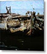 Old Wooden Fishing Boat Metal Print