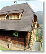 Old Wooden House On Mountain Metal Print