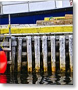 Old Wooden Pier In Newfoundland Metal Print