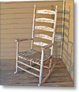 Old  Wooden  Rocking  Chair Metal Print