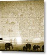 Old World Africa Antique Sunset Metal Print