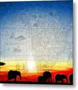 Old World Africa Cool Sunset Metal Print