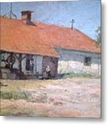 Old  World Slovenian Farmhouse Metal Print