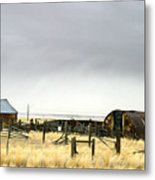 Old Wyoming Farm Metal Print