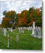 Old Yard Cemetery Stowe Vermont Metal Print