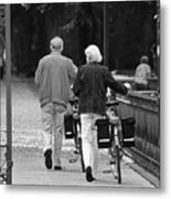 Older Couple In The Park Metal Print