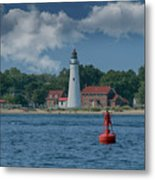 Oldest Lighthouse In Michigan Metal Print