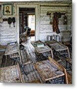 Oldest School House C. 1863 - Montana Territory Metal Print by Daniel Hagerman
