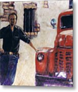 Ole Red And The Master Mechanic Metal Print