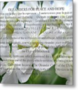 Oleanders For Peace And Hope Metal Print
