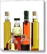 Olive Oil,salad Dressing And Vinegar Metal Print