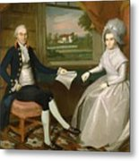 Oliver And Abigail Wolcott Ellsworth 1801 Metal Print