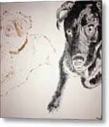 Oliver And Fury Commission Metal Print