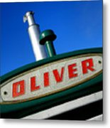 Oliver Tractor Nameplate Metal Print