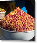 Olives For Sale In Market, Essaouira Metal Print