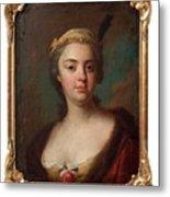 Olof Arenius, Ulrika Eleonora Ribbing Af Zernava 1723-1787 Metal Print