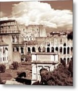 Colosseum From Roman Forums  Metal Print