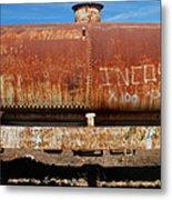 Ols Rusty Container Train Wagon Metal Print
