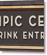 Olympic Center 1932 Rink Entrance Metal Print