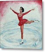 Olympic Figure Skater Metal Print